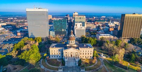 Downtown Columbia South Carolina Skyline SC Aerial Panorama Wall mural