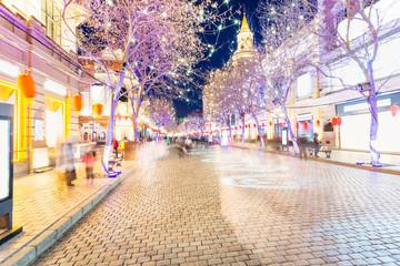 Central Avenue (Zhongyang Street). Located in Harbin, Heilongjiang, China.
