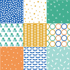 seamless patterns with fabric textures