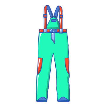 Ski clothes icon. Cartoon of ski clothes vector icon for web design isolated on white background