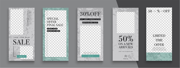 Сommercial editable Stories template. Design  for social media.