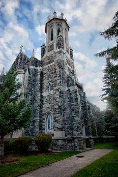November 03 2018 Windsor, Ontario Campbell Baptist Church Expterior Bell Tower