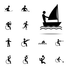 disabled sport sail icon. paralympic icons universal set for web and mobile