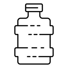 Water bottle icon. Outline water bottle vector icon for web design isolated on white background