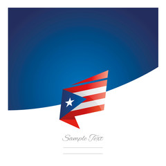 New abstract Puerto Rico flag origami blue background vector