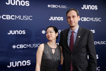 Quinsin Nachoff's Flux arrives at the 2019 Juno Awards in London, Ontario, Canada