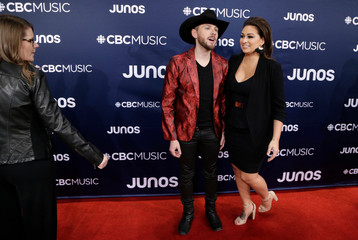 Brett Kissel arrives at the 2019 Juno Awards in London, Ontario, Canada
