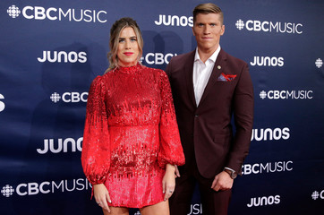 The Reklaws arrive at the 2019 Juno Awards in London, Ontario, Canada