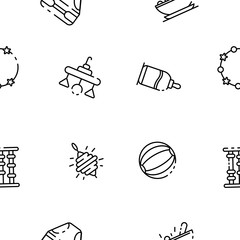 Baby toy icon. Outline baby toy vector icon for web design isolated on white background