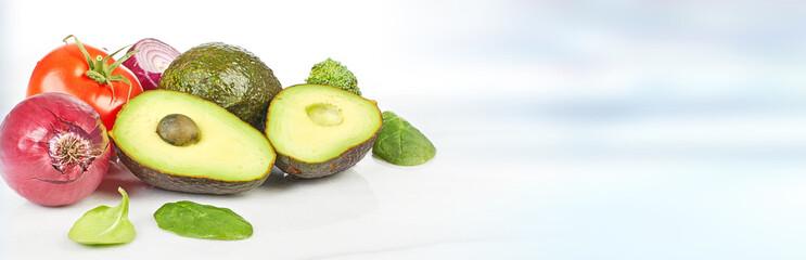 Fototapete - Vegetables food background.