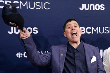 Ali Eisner arrives at the 2019 Juno Awards in London, Ontario, Canada