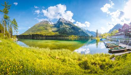 Lake Hintersee in summer, Bavaria, Germany