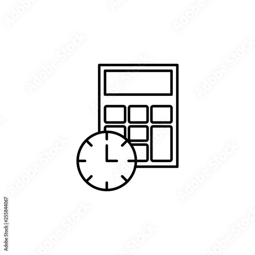 Time management, calculator, time, hour, clock icon  Element