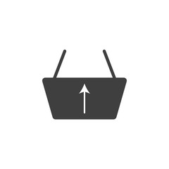 upload basket icon. One of the collection icons for websites, web design, mobile app