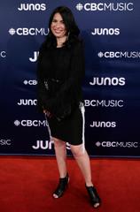 Tanya Talaga arrives at the 2019 Juno Awards in London, Ontario, Canada