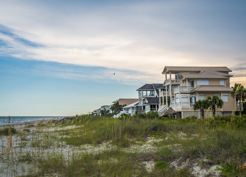 St George Island Florida beach houses real estate with view of the Gulf of Mexico