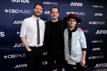 The Fretless arrive at the 2019 Juno Awards in London, Ontario, Canada