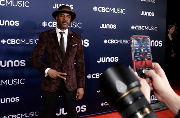 Maestro Fresh Wes arrives at the 2019 Juno Awards in London, Ontario, Canada