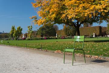 Autumn in Paris. Garden Tuileries.