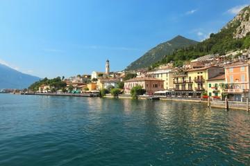 view of Limone sul Garda on Lake Garda, Italy