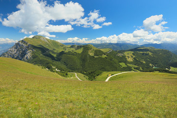 view of mountains from Monte Baldo, Lake Garda