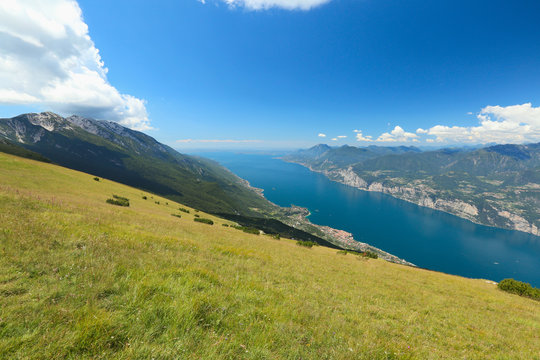 Garda Lake from Baldo Mountain, italy