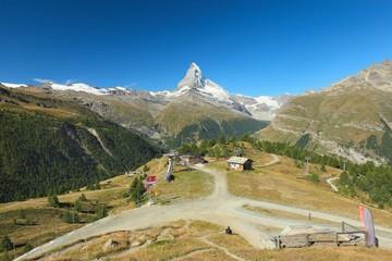 Zermatt, view of the Matterhorn, Valais, Switzerland