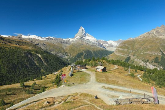 Zermatt, view of the Matterhorn, Valais, Switzerland
