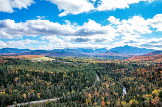 Fall color in Lake Placid NY