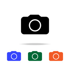 camera icon. Elements of simple web icon in multi color. Premium quality graphic design icon. Simple icon for websites, web design, mobile app, info graphics