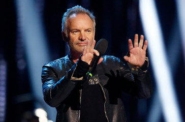 Sting speaks at the 2019 Juno Awards in London, Ontario, Canada
