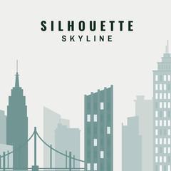 Silhouette skyline illustration
