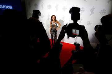 Show host Sarah McLachlan poses backstage at the 2019 Juno Awards in London, Ontario, Canada