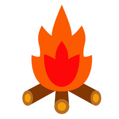 campfire flat illustration