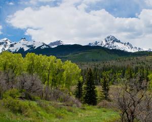 Colorado on the springtime-mount Sneffel's with snow
