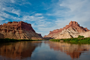 Green River view outside Moab- a rafter's paradise