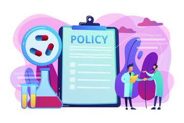 Pharmaceutical policy concept vector illustration.