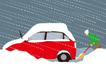 積雪による自動車の排気ガス中毒の予防