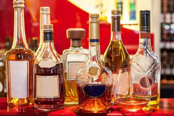 Wine bottles with modern look