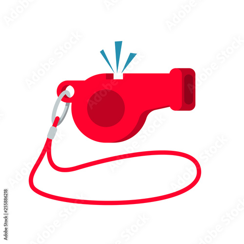 Whistle Icon Sport Equipment Referee Whistle Cartoon
