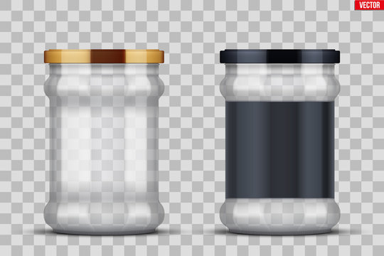 Transparent Glass Jars for canning and preserving.