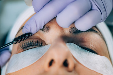 Cosmetologist Doing Lash Lifting