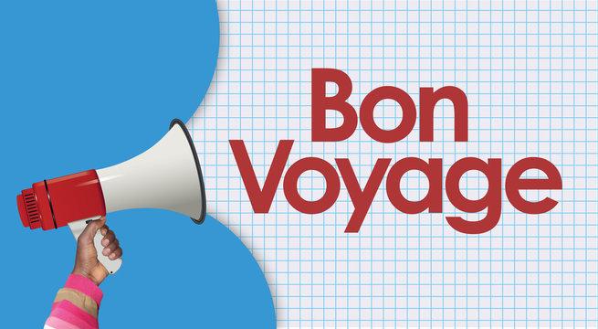 bon voyage word and megaphone
