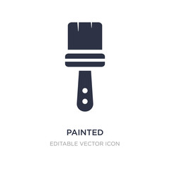 painted icon on white background. Simple element illustration from Art concept.