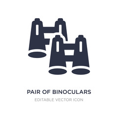 pair of binoculars icon on white background. Simple element illustration from General concept.