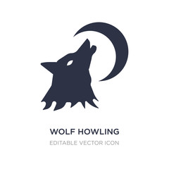 wolf howling icon on white background. Simple element illustration from General concept.