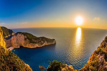 Romantic fabulous sunset