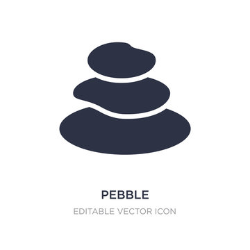 pebble icon on white background. Simple element illustration from Miscellaneous concept.