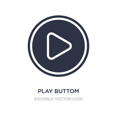 play buttom icon on white background. Simple element illustration from Multimedia concept.