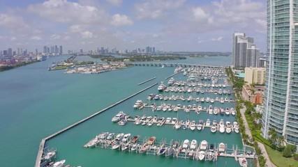 Fototapete - Miami Beach area aerial